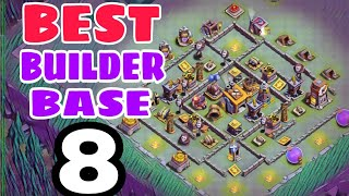 BEST Builder Base 8 with Extra Walls | Best Bh8 Base Design w/PROOF | Clash of Clans