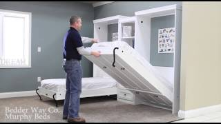 Bedder Way Twin Murphy Bed Operation Example