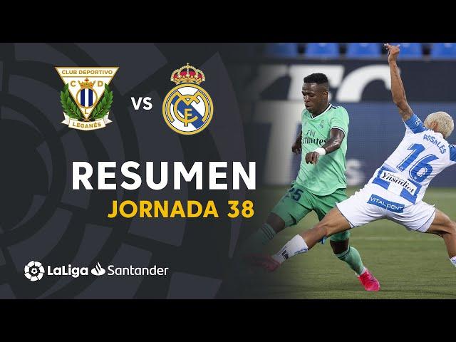 Resumen de CD Leganés vs Real Madrid (2-2) - LaLiga Santander