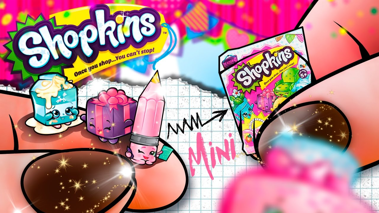 DIY HOW TO MAKE Miniature Shopkins Surprise Video For