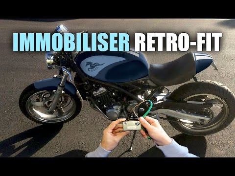 Motorcycle Immobiliser Retro-fit / Install - Kawasaki ZR250