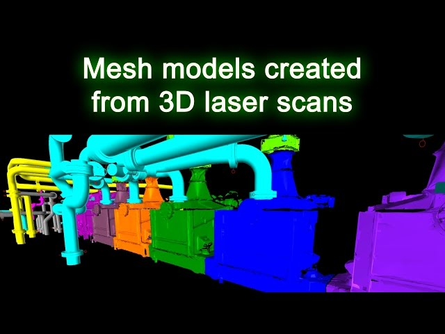 Mesh Models Created from 3D Laser Scans