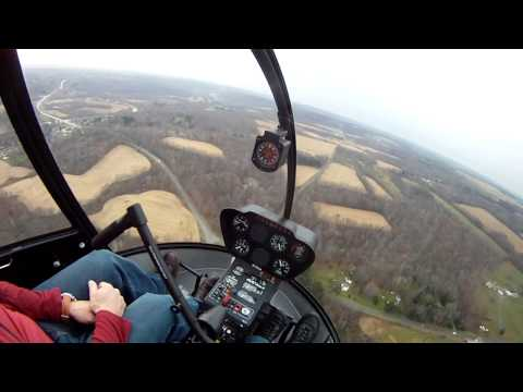 Robinson R-22 Crossfield Approach to New Castle Airport, Pennsylvania.
