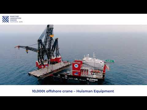 10.000t offshore kranen van Huisman Equipment genomineerd voor Maritime Innovation Award 2019