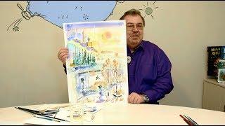 Как нарисовать зимний пейзаж? Урок «Поколения М»