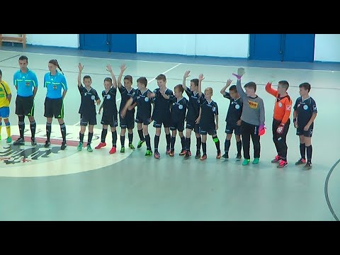 Balatonalmádi U - 11-es futsal csapata az országos döntőben. 2017.05.28.