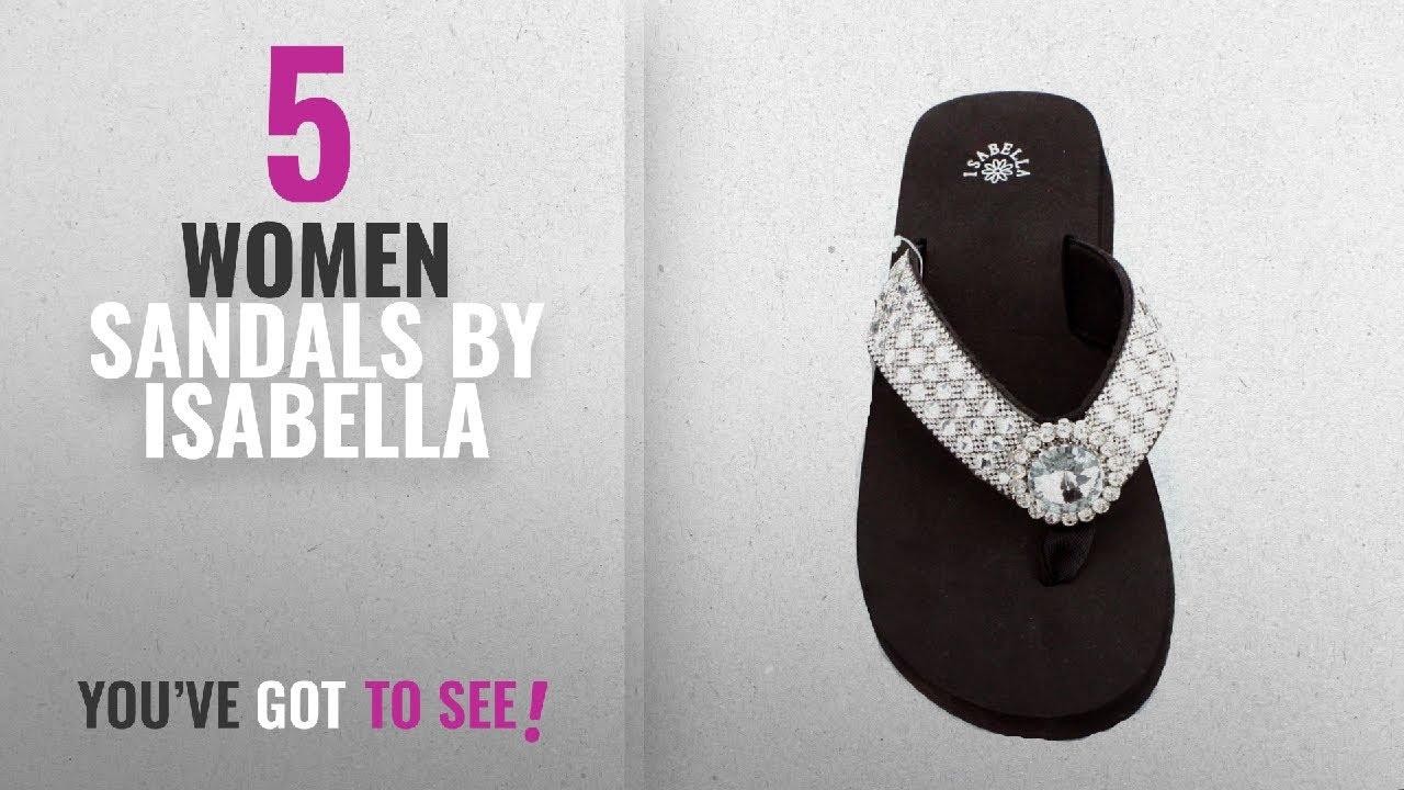 2a6d96b73844 Top 5 Isabella Women Sandals  2018   Premium Western Rhinestone ...
