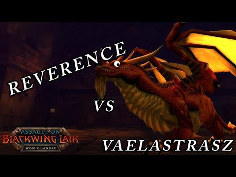 Reverence vs Vaelastrasz - BWL Classic wow (Warrior Tank PoV)