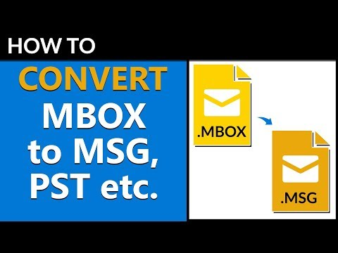 How to Convert MBOX Mailboxes to MSG