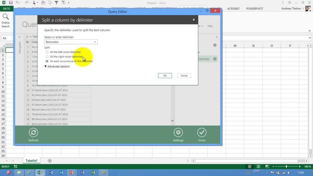 Excel # 370 - csv-Dateien importieren und matchen - Power Query ...