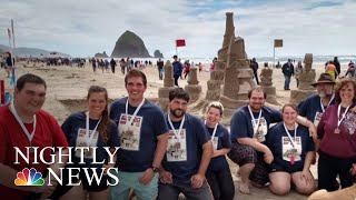 Sandcastle Building Contest Brings Out The Kid In Everyone | NBC Nightly News