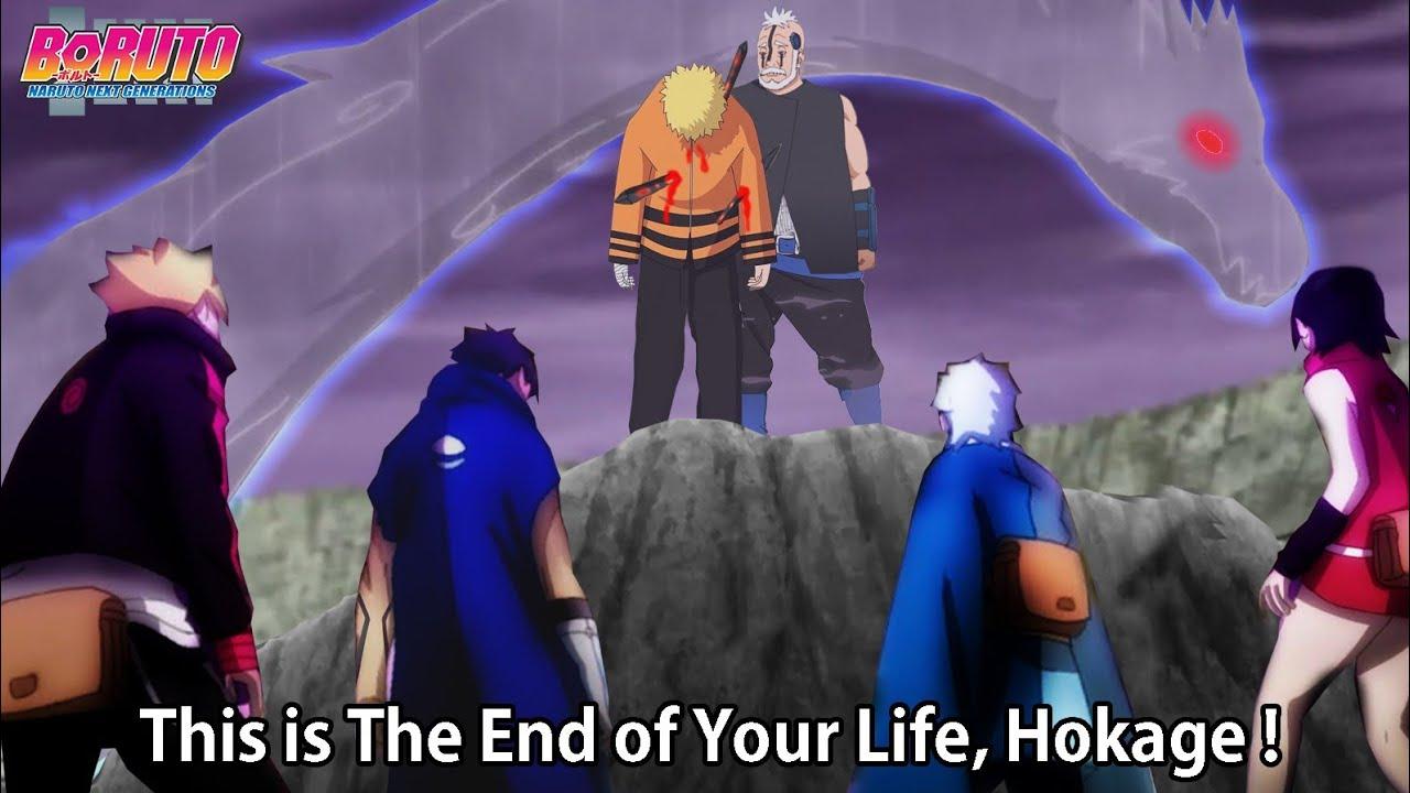 Boruto Kawaki Save Naruto from Boro   New Team 7 vs Boro Full Fight - BORUTO EPISODE 205 206