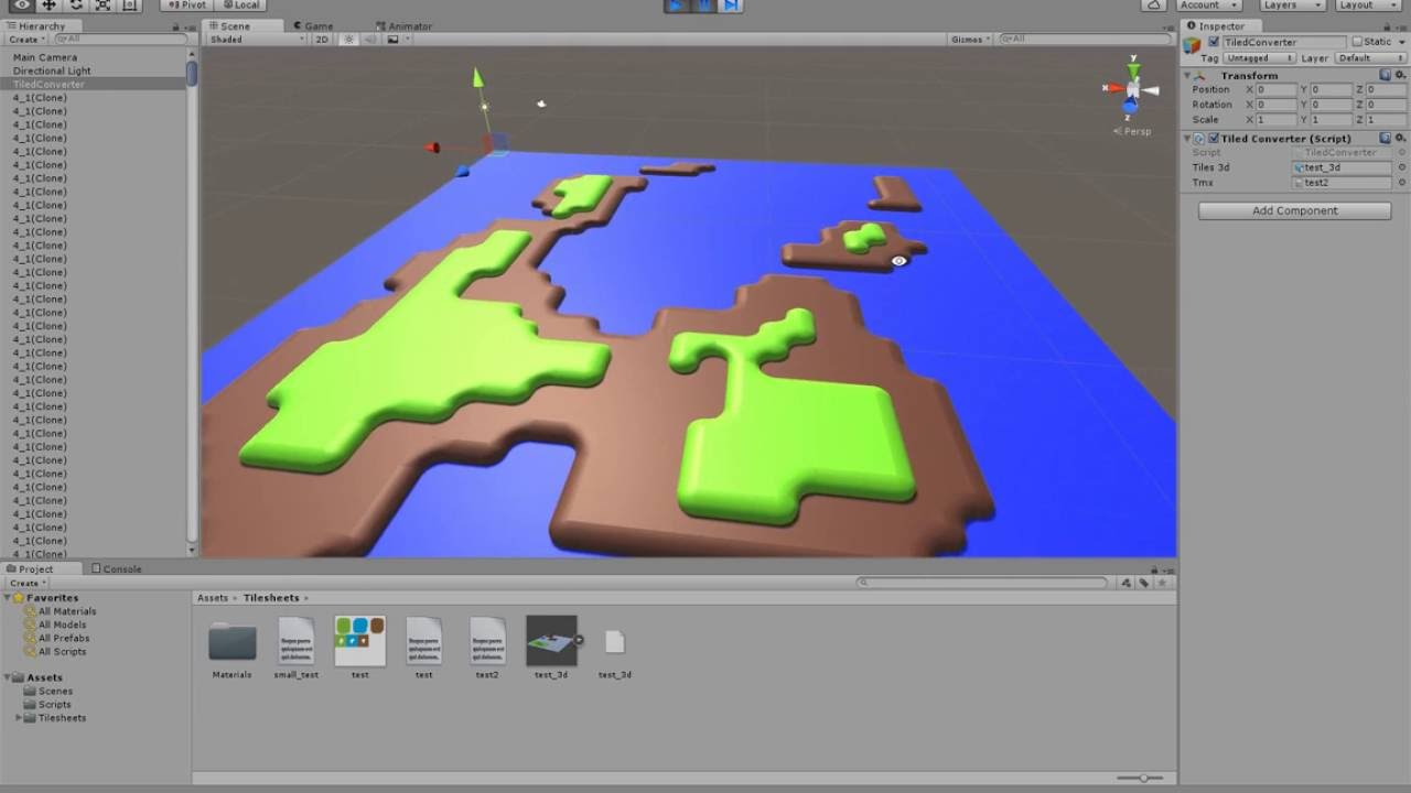 Tiled Map Converted to 3D Tiles in Unity