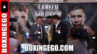 CANELO VS GOLOVKIN TO FACE OFF WITHOUT FACING OFF LIVE - PRESS CONFERENCE WONT BE TOGETHER!