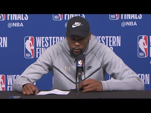 Kevin Durant Postgame Interview - Game 5 | Warriors vs Rockets | May 24, 2018 | 2018 NBA West Finals