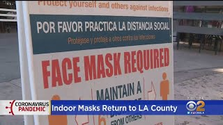LA County Department Of Health's Latest Mask Mandate In Effect Saturday