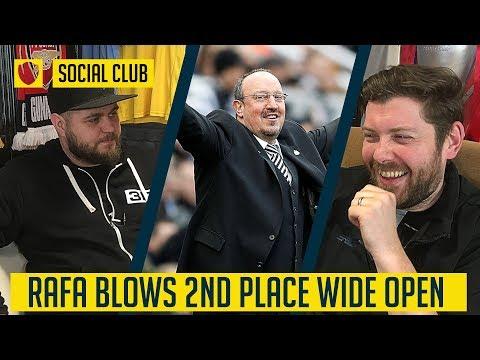 NEWCASTLE UNITED 10 MAN UNITED: RAFA BLOWS 2ND PLACE WIDE OPEN  SOCIAL CLUB