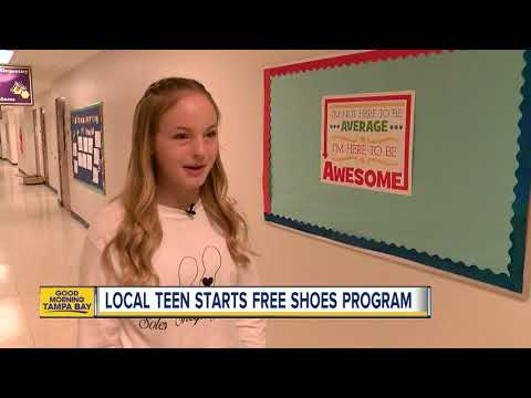 Inspiring Tampa teen starts free shoes program 'Soles Shaping Souls' for first-grade students