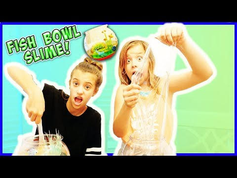 FISH BOWL SLIME FACTORY IN OUR HOUSE!! (NO BORAX!) / SmellyBellyTV