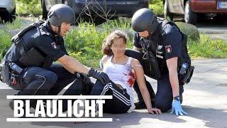 Frau in Jenfeld mit Schrotflinte angeschossen - Polizei sucht 6 Stunden nach dem Täter