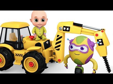 Surprise Eggs | Construction Truck Toys for Kids - Driller Crane | Surprise Eggs Toy from Jugnu Kids