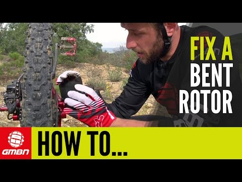 How To Fix A Bent Disc Brake Rotor | Trailside Mountain Bike Maintenance