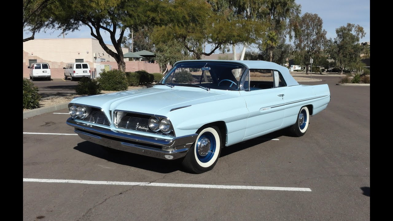 1961 pontiac catalina convertible in tradewind blue paint. Black Bedroom Furniture Sets. Home Design Ideas