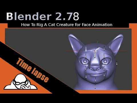 Time Lapse Video How To Rig A Cat Creature For Face Animation In Blender  2 78a