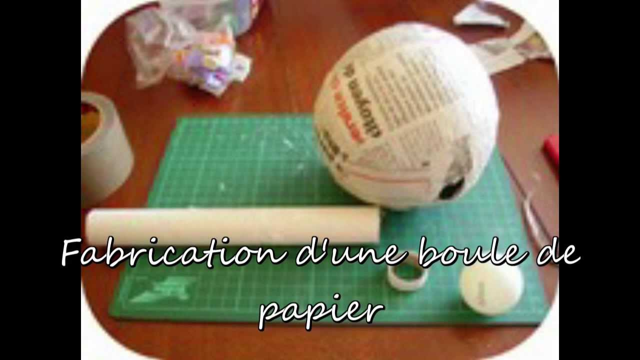 Fabrication boule de papier youtube - Comment faire des boules de noel ...