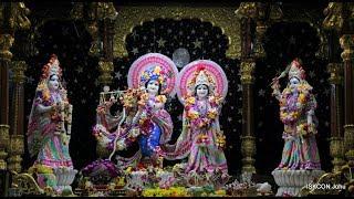 Sringar Arati Darshan Sri Sri Radha Rasbihari Temple 24th Oct 2018 Live from ISKCON Juhu, Mumba