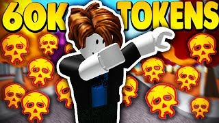 USING 60K TOKENS ON NOOB ACCOUNT *5K+ ROBUX* | Super Power Training Simulator (ROBLOX)
