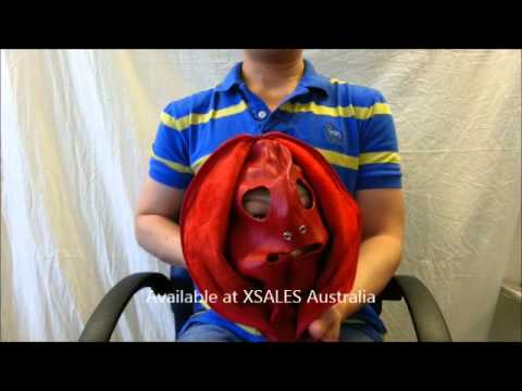 Randyfox Bondage Hood with Face Zip for Sensory Deprivation Red from YouTube · Duration:  46 seconds