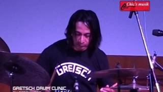 GRETSCH Drum Clinic by GERRY HERB@Chicsmusik