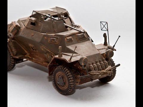 1/ 35 Hand Built German WWII Sd KFz 222 Leichter Panzerspahwagen Super Detailed (part 1/2)