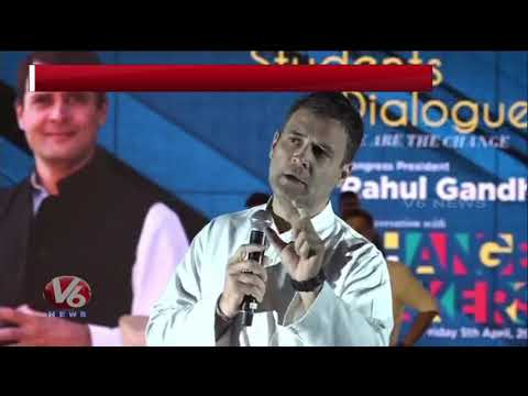 Rahul Gandhi Interaction With Students About Congress Manifestos And  Schemes | Pune | V6 News