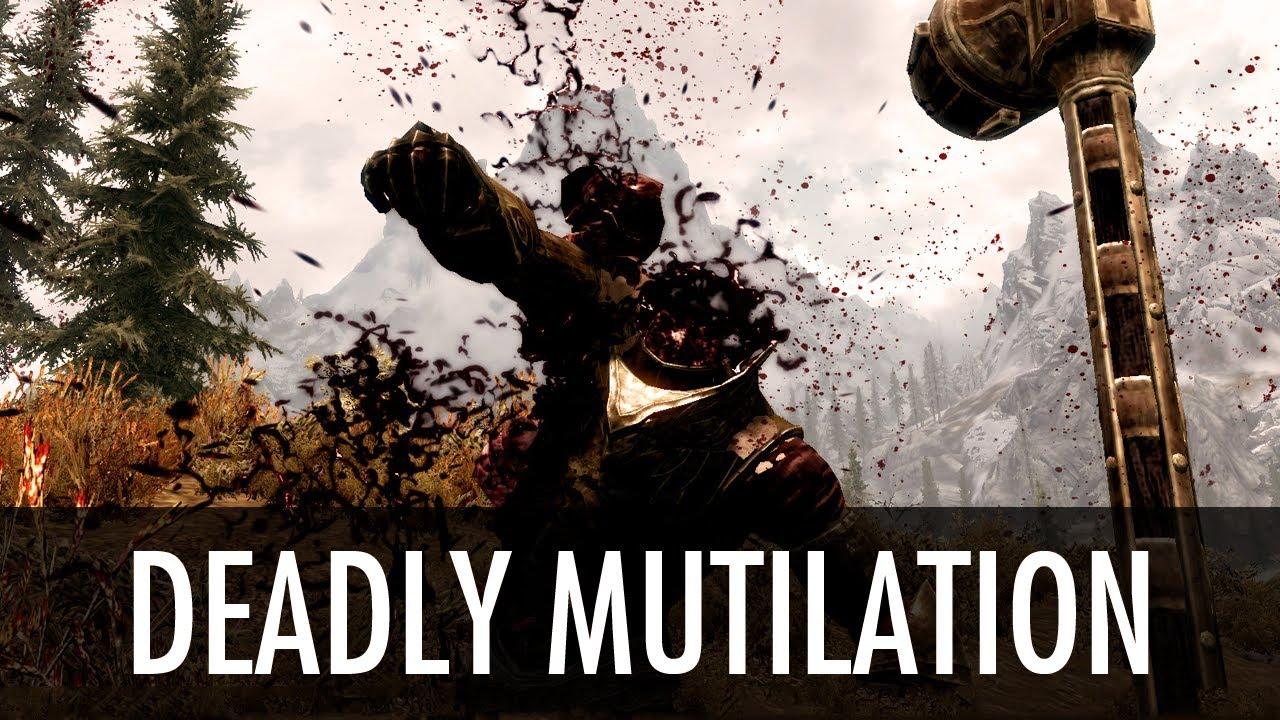 Скачать мод Deadly Mutilation Скайрим