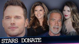 Chris Pratt, Arnold Schwarzenegger & Maria Shriver Donate  to Friend Affected By Malibu Fire