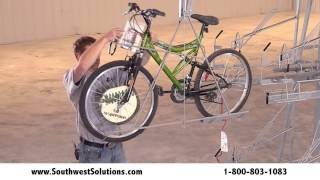 Vertical Bike Racks Storage System | Storing Bicycles For Commercial Businesses