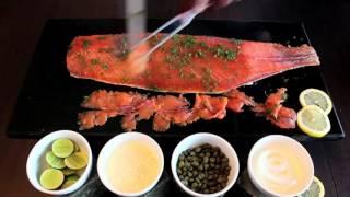 Our Perfect Gravlax, marinated SALMON | Norwegian Fish Dinner Buffet