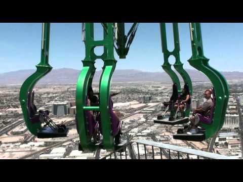 USA Las Vegas Stratosphere Tower bei Tag und Nacht X Scream Sky Jump Big Shot Insanity