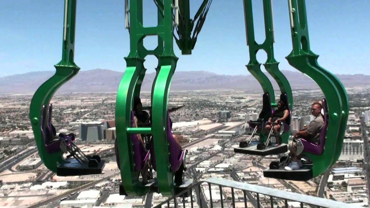 USA Las Vegas Stratosphere Tower bei Tag und Nacht X ...