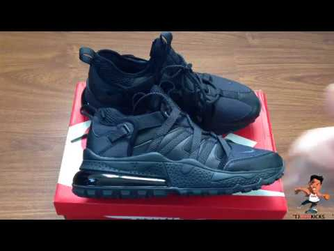 timeless design 88904 499e5 Nike Air Max 270 Bowfin Triple Black Unboxing and Review