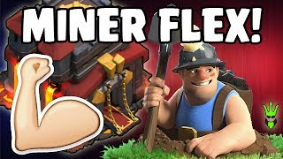 MASS MINERS FLEX ON TH10! - TH10 Mass Miner 3-Star Attacks - Clash of Clans - How to use Miners