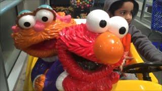 Elmo Zoe Race Car Kiddie Ride Toddlers Babies Children Toys R Us Sesame Street Songs Videos