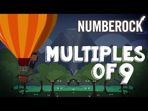 9 Times Table Song Rap  Multiples of Nine  NUMBEROCK