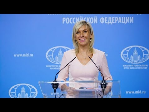 MFA spokesperson Maria Zakharova holds the weekly briefing