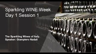 Sparkling Wine Week  Day 1 Session 1  - The Sparkling Wines Of Italy