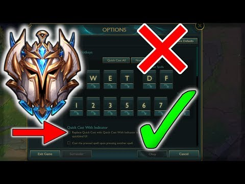 Challenger Player's Settings And Hotkeys - (League Of Legends)