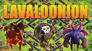 Clash of Clans:TH9 Lavaloonion 3stars Attack strategy