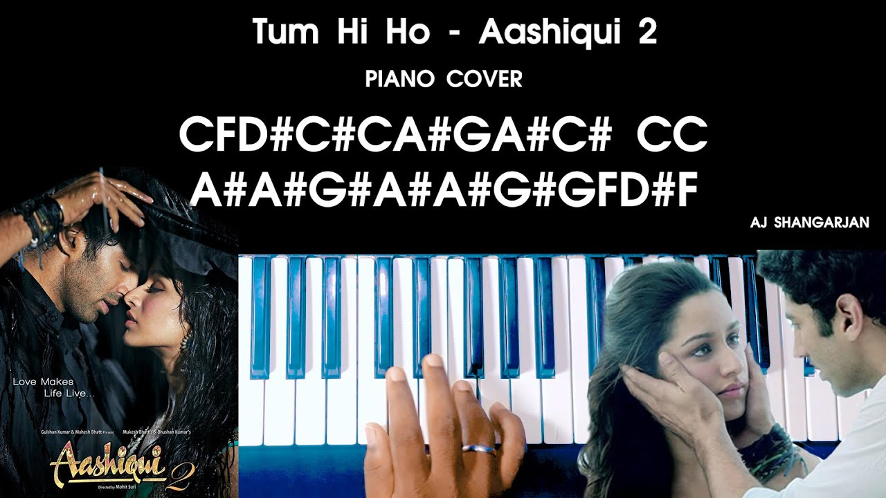 Tum Hi Ho -  Aashiqui 2 Song Piano Cover with NOTES | AJ Shangarjan